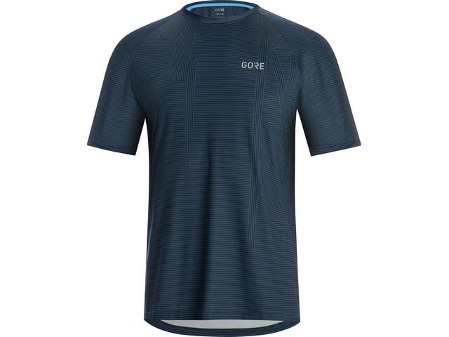 GORE WEAR M Line Brand Shirt Herren deep water blue/dynamic cyan